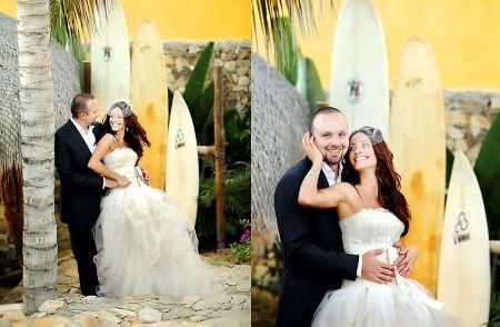 Erica Cerra and Raffaele Fiore got married in Baja, Mexico.