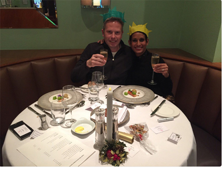 Naga Munchetty with her now-husband James Haggar