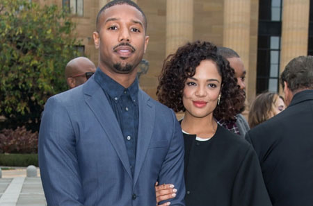 Image result for michael b jordan and tessa thompson