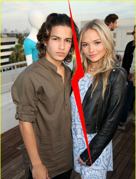 girlfriend Natalie Alyn Lind with her ex-boyfriend Aramis Knight