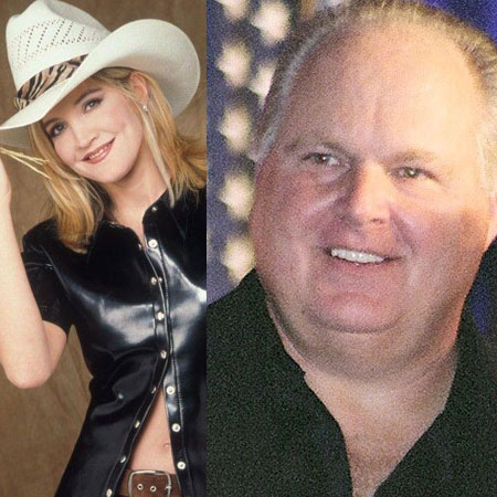 girlfriend Crystal Bernard with ex-boyfriend Rush Limbaugh