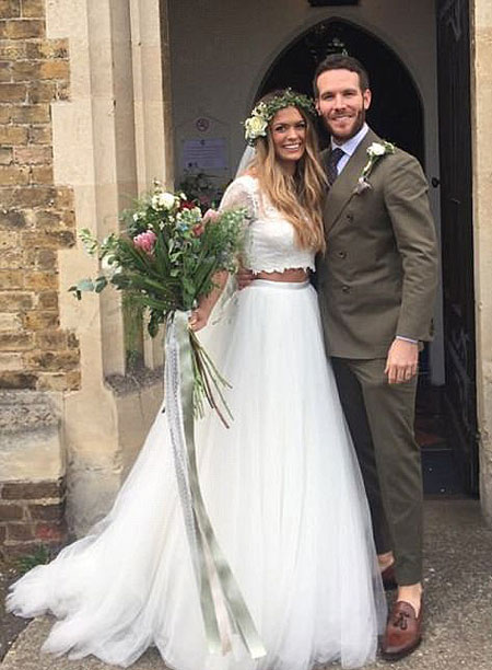 Newly married husband and wife couple of Beckie Finch and Adam Ryan