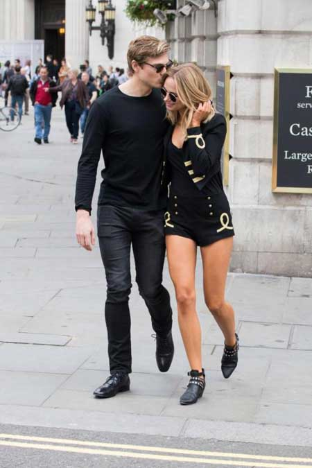 Kimberley Garner with her mysterious boyfriend who kissed her on her head