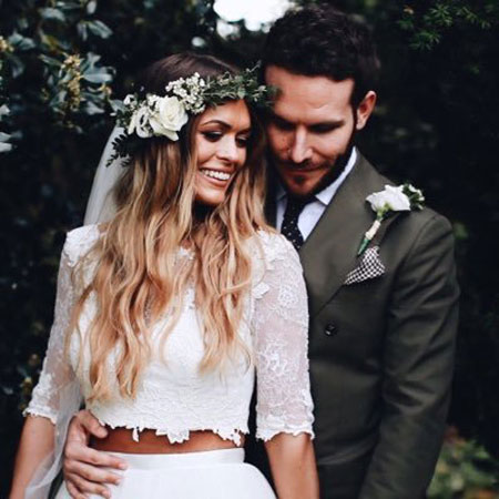 Newly married husband and wife couple of Beckie Finch and Adam Ryam
