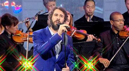 Josh Groban performing live at GMA