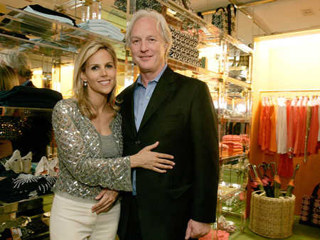 Former husband and wife: J. Christopher Burch and Tory Burch