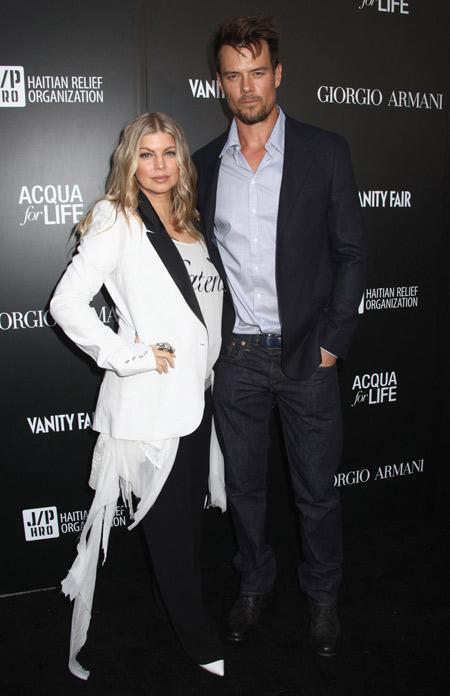 Then boyfriend and girlfriend: Josh Duhamel and Fergie