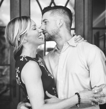 Arrow actress Katie Cassidy with her soon-to-be husband Mattew Rodger
