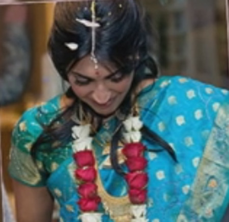 Vinita Nair wearing Banarasi saree in her wedding