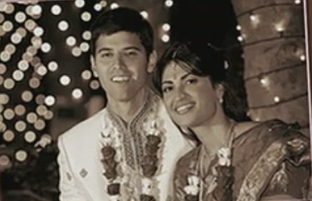 Vinita Nair with her husband Osman�Nawaz on her wedding day