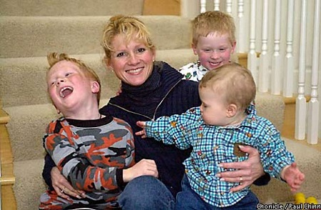 Cindy with children