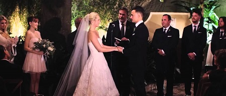 Candice and Joe walked down the aisle