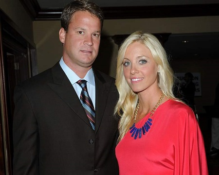 Lane Kiffin with wife Layla Kiffin