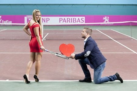 Dominika Cibulkova and Michal Navara