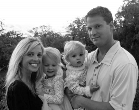 Lane Kiffin and Layla Kiffin with their children