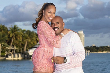 Steve Harvey with wife Marjorie Bridges