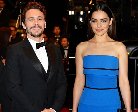 Emilia Clarke with James Franco in an event