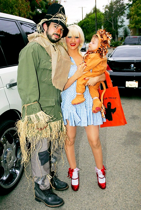 Christina Aguilera with her former husband Jordan Bratman whom she divorced in 2011 and son, Max Liron Bratman, now 9