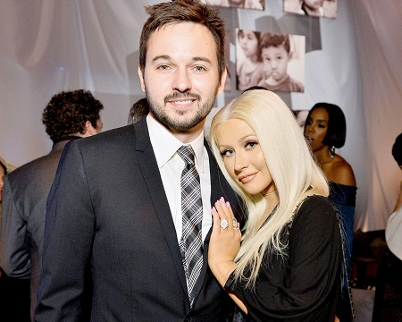 Christina Aguilera with her fiance, Matt Rutler whom she got engaged in 2014