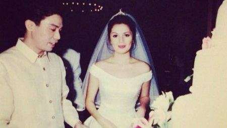 Donna Cruz and Yong Larrazabal on their wedding day on September 19, 1998