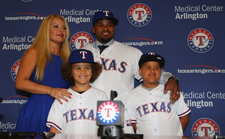 Prince Fielder and his wife Chanel Fielder with whom he married in 2005 along with sons, Jadyn and Haven