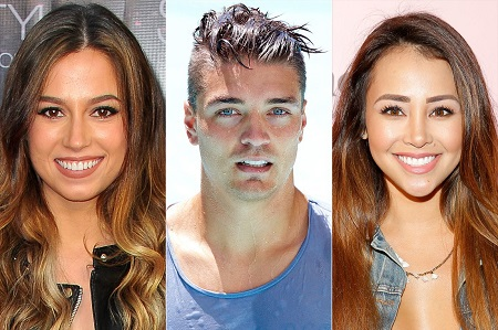Dean Unglert, Kristina Schulman, and Danielle Lombard shared a love triangle in Bachelor In Paradise