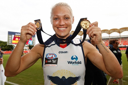 Erin Phillips retired from basketball career and to focus on football