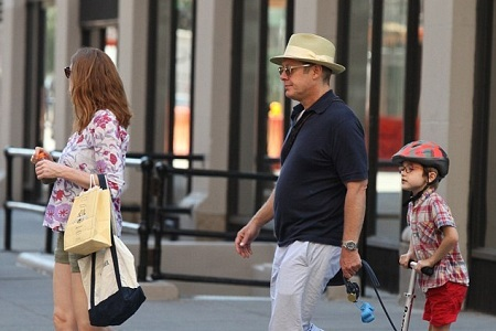 James Spader and Leslie Stefanson in the outing with their son Nathaneal