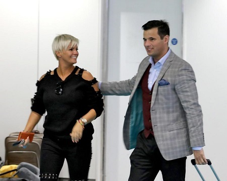 Kerry Katona and James English made their relationship public in a PDA-packed