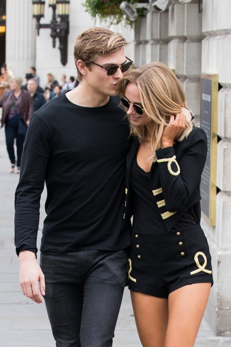Kimberley Garner spilts with her boyfriend of three years in 2017