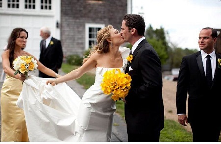 Rachel Platten and Kevin Lazan on their wedding day