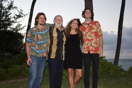 Annie D'Angelo and Willie Nelson with their sons, Lukas Nelson and Jacob Micah Nelson