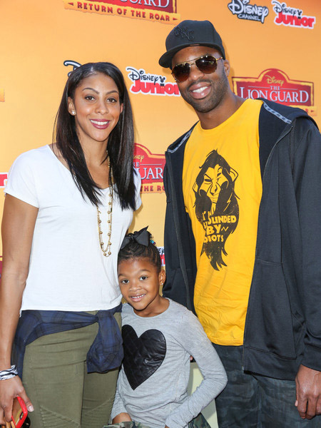 Candace Parker and Shelden Williams with their daughter