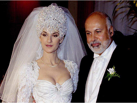 Celine Dion and Rene Angelil on Their Big Day