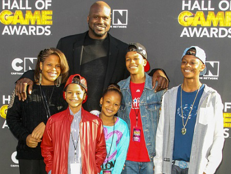 Shaquille O'Neal's with his children