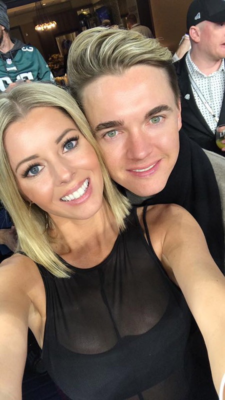 Jesse McCartney with his Blue-eyed Valentine Katie Peterson.