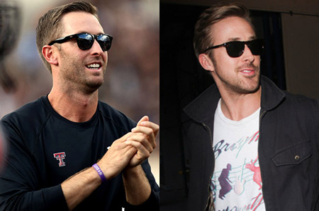 Kliff Kingsbury (left) and Ryan Gosling (right)