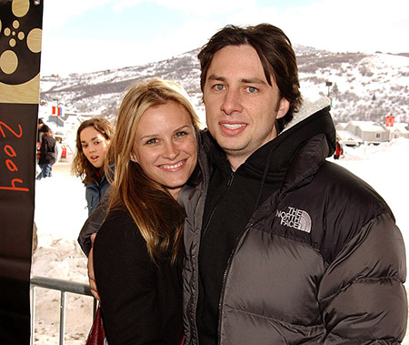 Bonnie Somerville and Zach Braff enjoying their time together