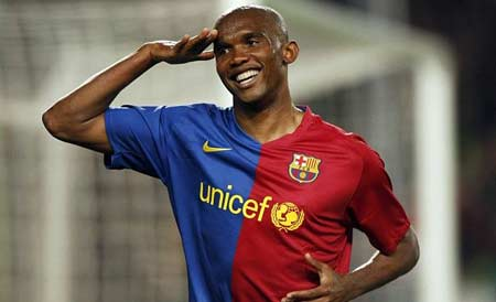 Samauel Eto'o during his spell in Barcelona