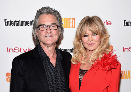 Goldie Hawn with her long time partner Kurt Russell