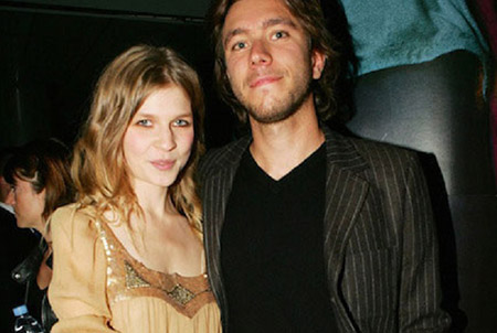 Clemence Poesy with her Fiance Emeric Glayse