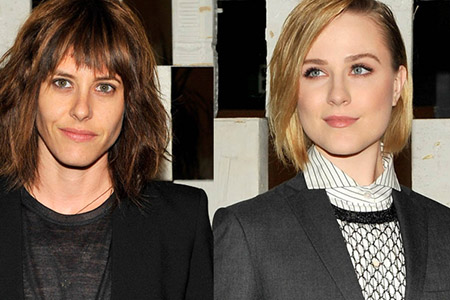 Evan Rachel Wood and Katherine Moennig