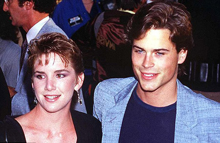 Rob Lowe with actress Melissa Gilbert
