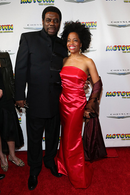 Rhonda Ross Kendrick with husband Rodney Kendrick at Motown opening night