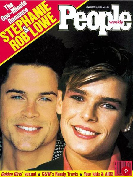 Rob Lowe with Princess Stephanie on the cover of people magazine