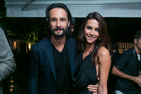 Rodrigo Santoro with girlfriend Mel Fronckowiak