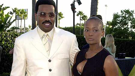 Marcia Harvey with her ex-husband Steve Harvey