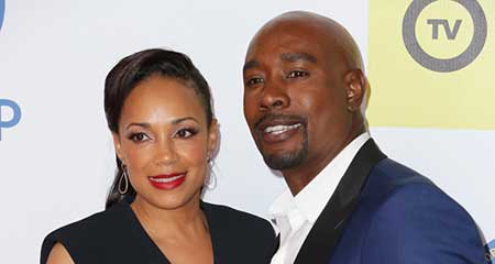 Pam Byse with her husband Morris Chestnut