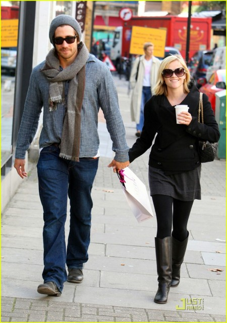 Jake Gyllenhaal with ex-girlfriend Reese Witherspoon