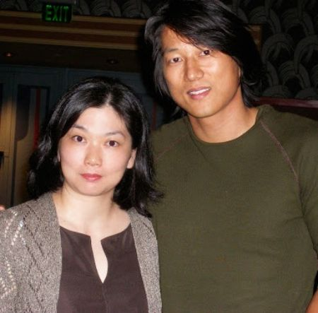Miki Yim with her husband, Sung Kang